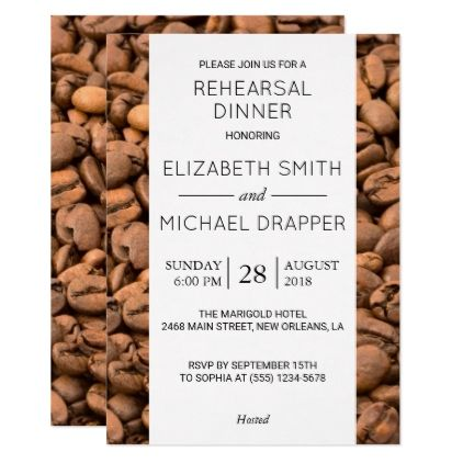 #Rehearsal Dinner - Arabica Coffee Beans - Brown Card - rehearsal dinner invitations #rehearsal #dinner #invitations #weddinginvitations #wedding #invitations #party #card #cards #invitation #rehearsaldinner