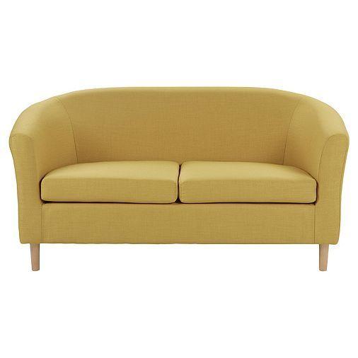 Tesco direct  Tub Compact 2 Seater Sofa   Mustard. Best 20  Tesco home ideas on Pinterest   Wall clocks  Tesco stores