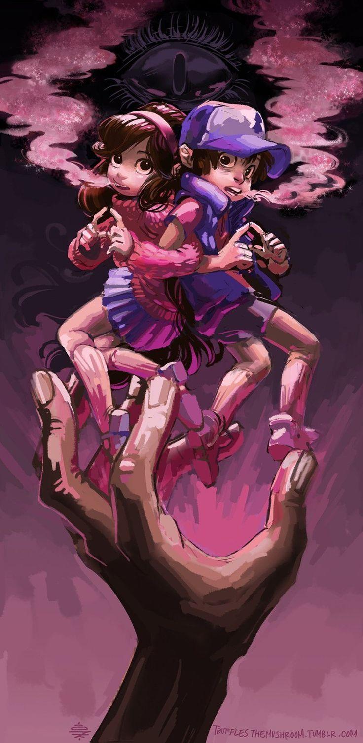 Dipper Pines,GF Персонажи,Gravity Falls,фэндомы,Mabel Pines,GF art