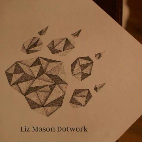Geometric paw print