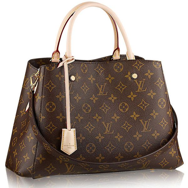 The 8 New Louis Vuitton Classic Monogram Bags Everyone Should Know ❤ liked on Polyvore featuring bags, brown bag, monogrammed bags, louis vuitton bags and louis vuitton