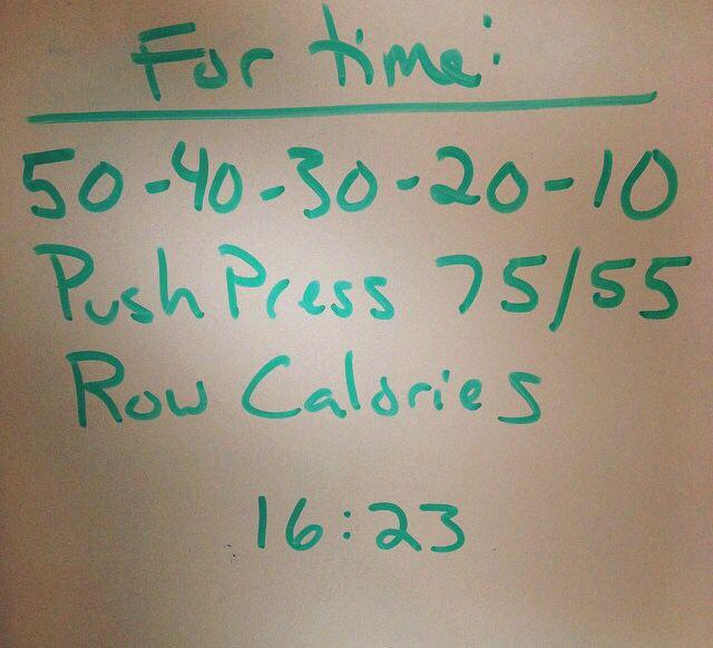 WOD push press calorie row #crossfit