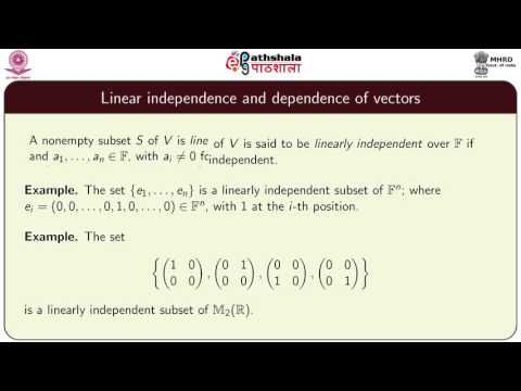 NRK ACADEMY: VECTOR SPACES – LINEAR INDEPENDENCE AND DEPENDENCE...