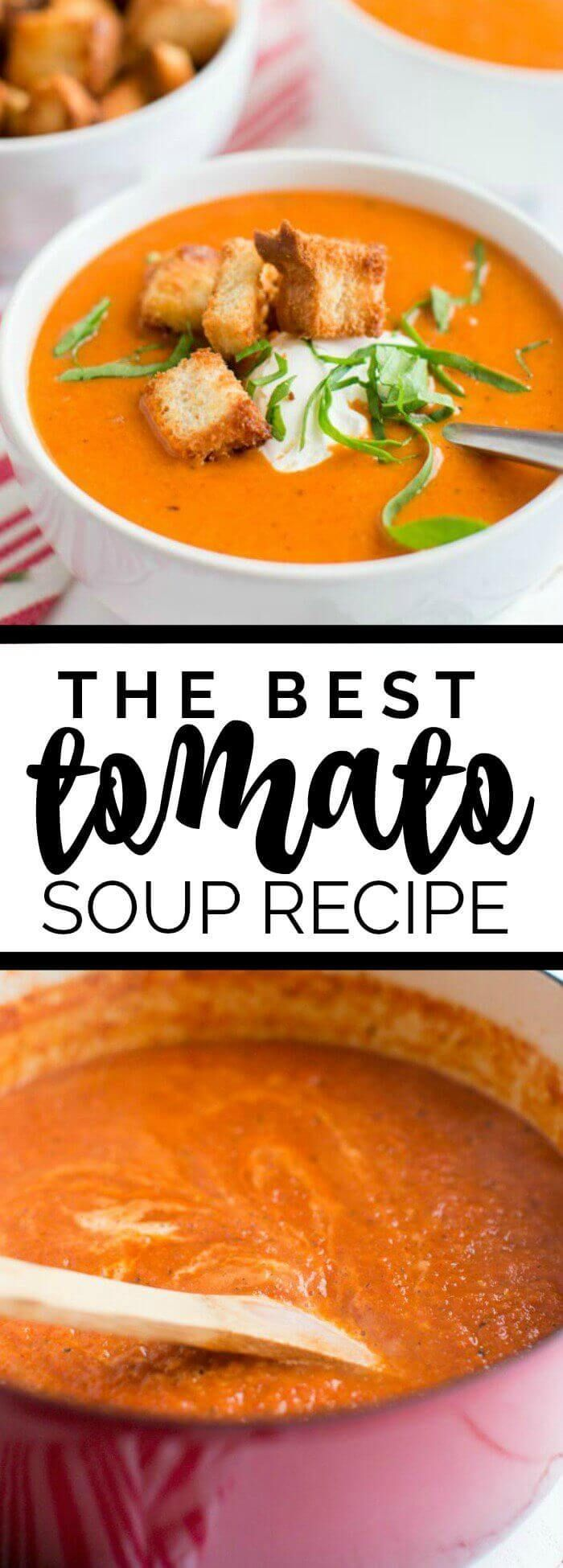 The Best Tomato Soup Recipe via @spaceshipslb #brauntherms #ad