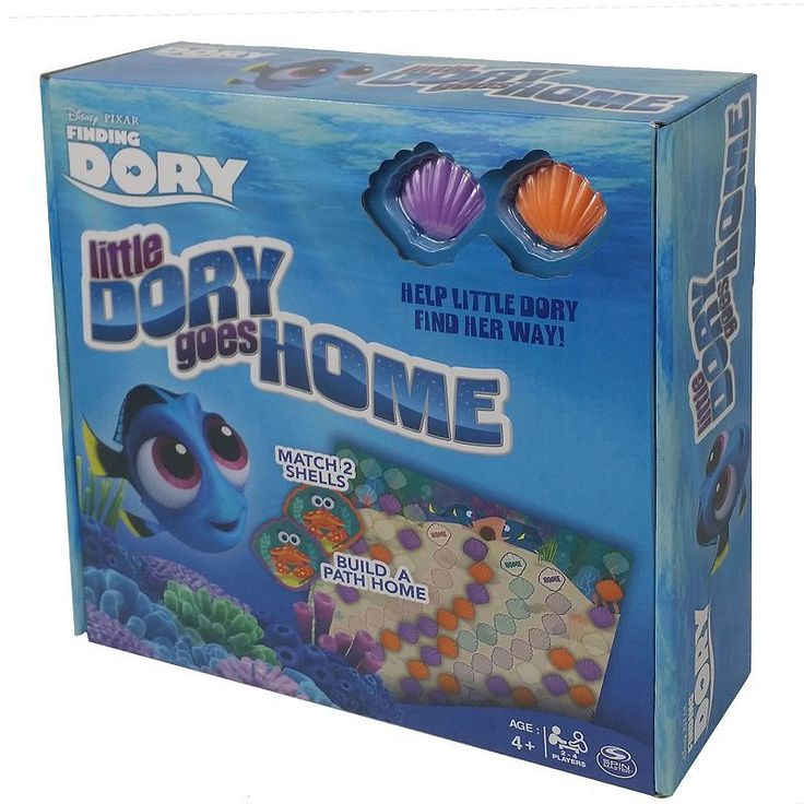 Disney / Pixar Finding Dory Little Dory Goes Home Shell Match Game by Cardinal, Multicolor