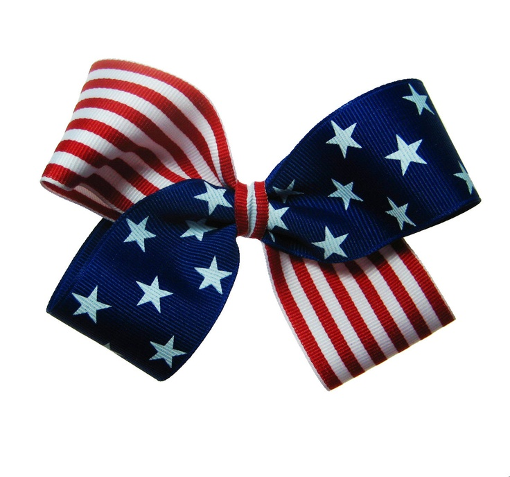 red white & blue bow
