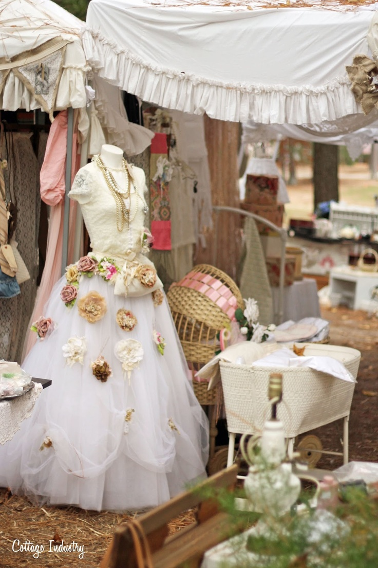 A Sort Of Fairytale: Country Living Fair Atlanta 2012 :: CUTE idea to pin jewelry, other things on white tulle or net :: REALLY SHOWS UP!