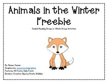 Animals In Winter Freebie