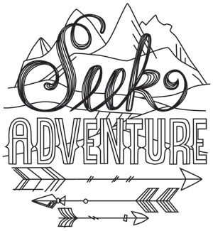 Seek Adventure | Urban Threads: Unique and Awesome Embroidery Designs