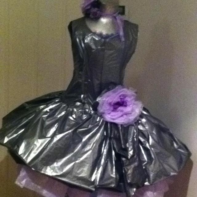 All plastic dress...