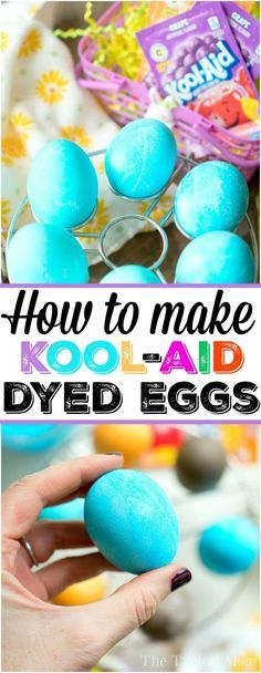 This is how to dye eggs with Kool Aid for Easter or just for fun! Dyeing eggs without the use of any chemicals is always best when children are involved and this way is simple and very cheap to do too! How to make the perfect hard boiled eggs and then dye them any color you want using this simple method is here. #koolaid #easter #eggs #dye #dying #dyeing #howto #natural #safe #easy #cheap #color via The Typical Mom  Easy Recipes Family Travel & Crafts
