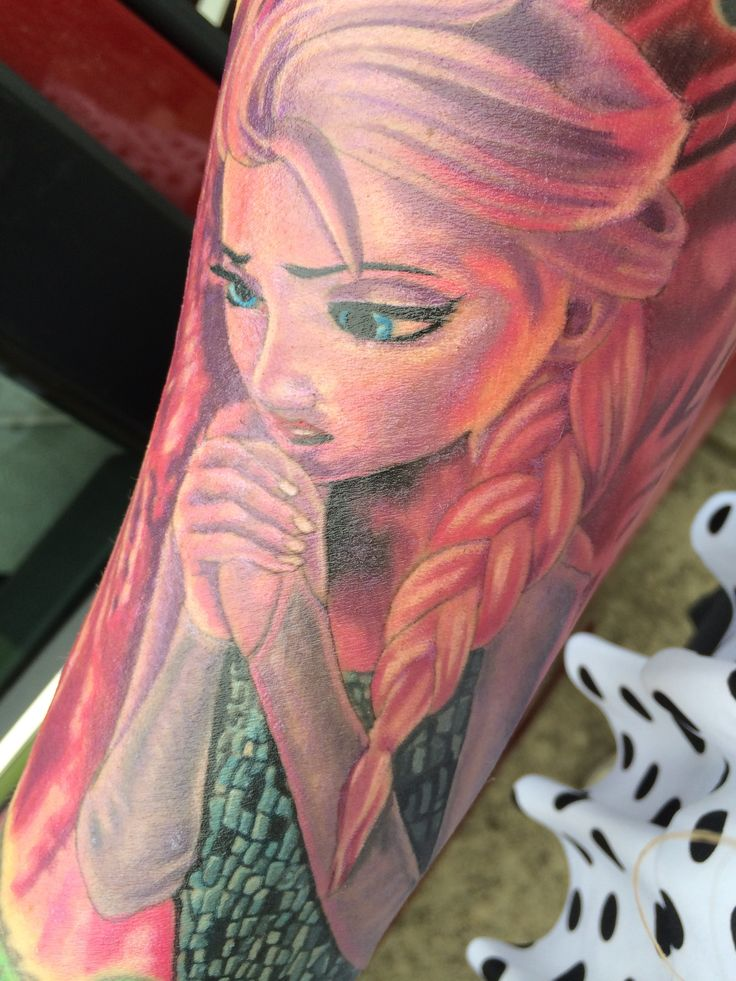 Frozen Elsa Tattoo By Chrisvennekamp Luckydrawtattoo