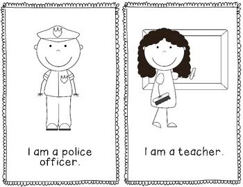 Community Helpers Emergent Reader- Free This will be great for my Kindergarteners!