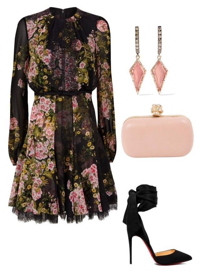 """""""Untitled #693"""" by lovelifesdreams on Polyvore featuring Giambattista Valli, Christian Louboutin, Alexander McQueen and Larkspur & Hawk"""