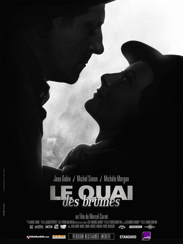 Le Quai des brumes est un film de Marcel Carné avec Jean Gabin, Michel Simon. Synopsis : Par une nuit ténébreuse, un déserteur du nom de Jean arrive au Havre dans l'espoir de quitter la France. En attendant un bateau, il trouve refuge au b