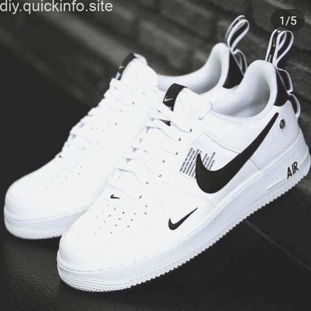 Nike Air Force 1 07 LV8 Utility Weiß Schwarz Gelb Herren ...