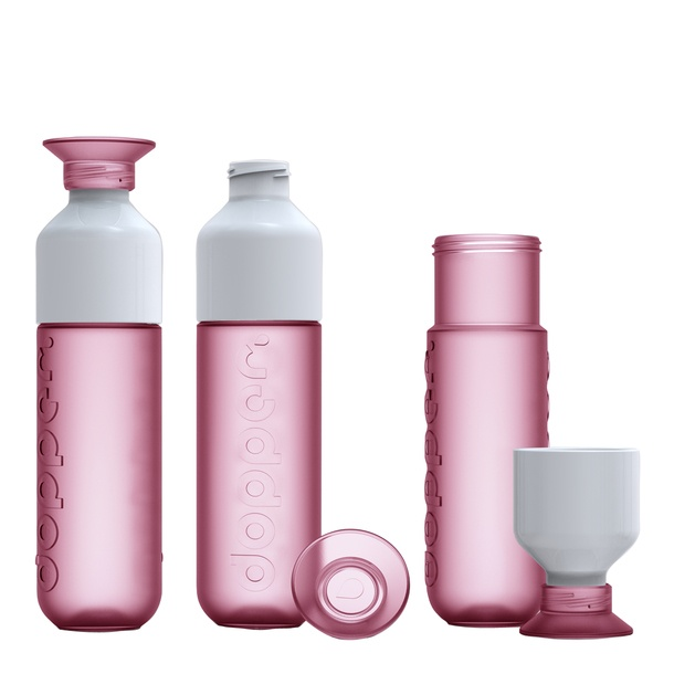 Dopper Reusable Water Bottles is cleverly designed with a two part lid helping it double-up as a drinking cup. It's a perfect bottle for drinking water. Sustainable, practical, fashionable. No more need to buy and throw away plastic bottles.