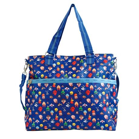 Tote bag with Looney Tunes cartoons characters.