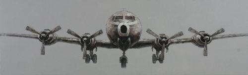 Kjempetøft og stilig bilde av en god, gammeldags flygemaskin!    Mål: Bredde 200 cm Høyde 60 cm
