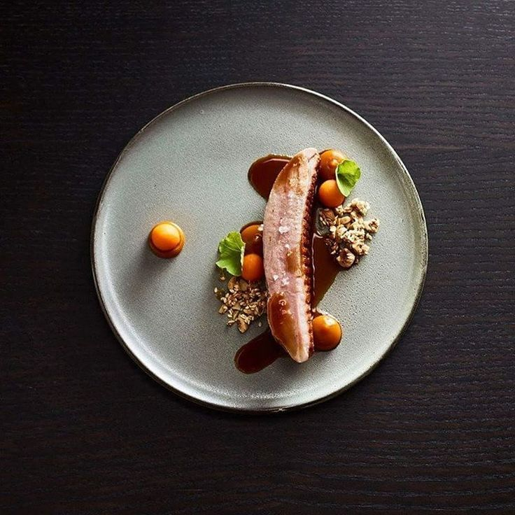 """Chef MATT MORAN - ARIA - SYDNEY """"Pumpkin, hazelnut and tamarind complement smoked duck breast as the season changes to fall."""""""