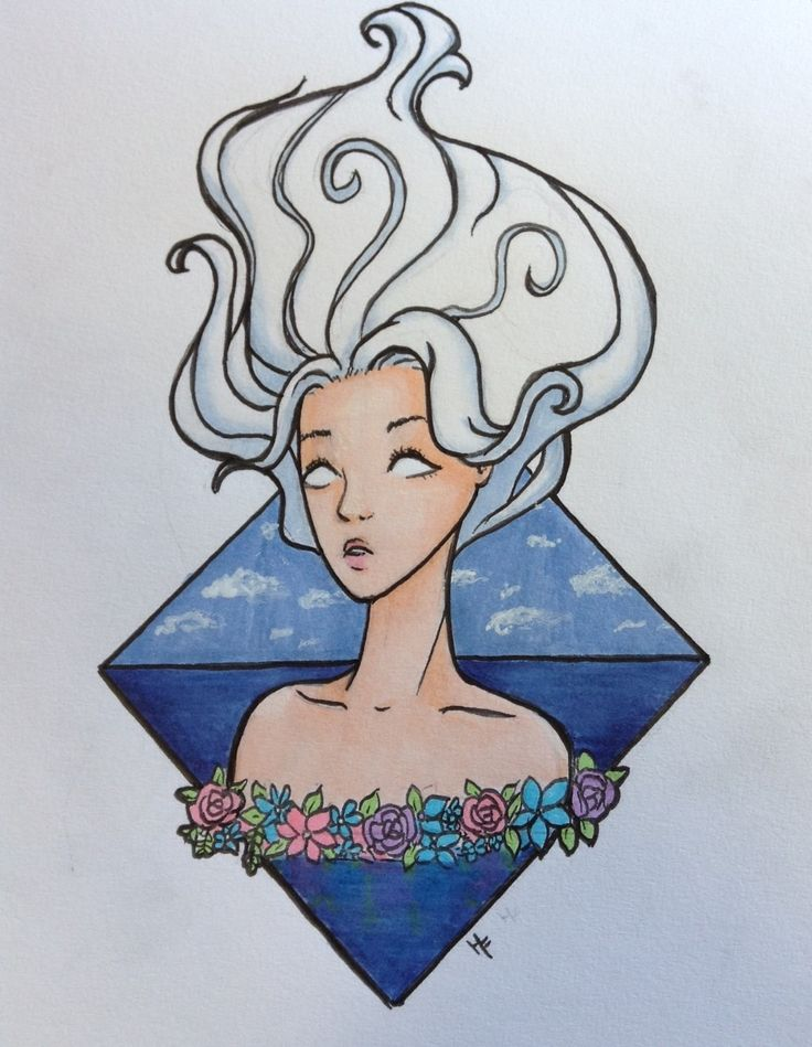 Ethereal is a drawing of one of Hollie's original characters, Ghost. She wanted to convey her lightness and calmness in this piece. Hollie used Graphic Pro Duo markers, Faber Castell india ink pens, and a white gel pen.     Check out more of her work at:  Instagram: @latibuleart Facebook: Latibule Art