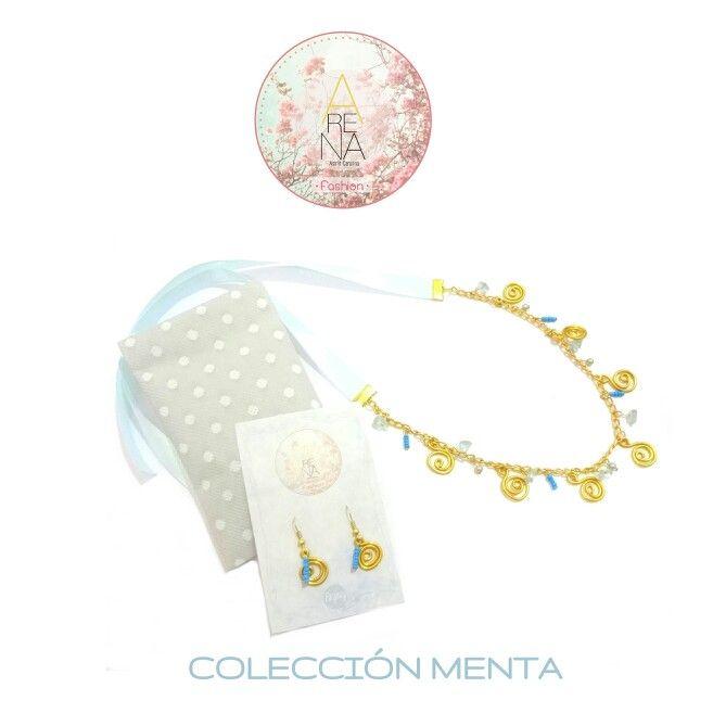 """Hoy publicamos nuestra nueva mini colección  llamada """"menta"""" donde el color principal es el menta, una propuesta relajada y fresca para días muy relax ☺ Si quieres conocer más de nuestros diseños y  accesorios escribe a arenabyastrid@gmail.com y al 00573044426072 y a el 00584161703728 ❤ Síguenos y descubre las sorpresas que tenemos para ti ❤  #menta #mentacalida #trendy #relax #casual #chic #moda #necklace #earring #outfit #minicoleccion #handmade #accesorios #fashion #arenabyastridcarolina"""