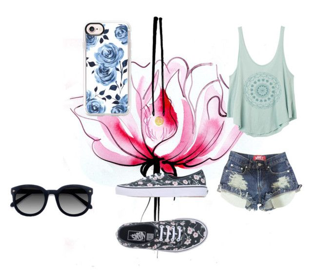 """""""here comes the sun"""" by kawaii-dragon on Polyvore featuring Lancôme, RVCA, Vans, Casetify, Ace and straya"""