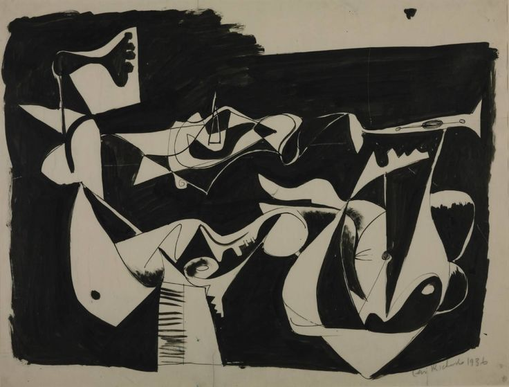deadpanaesthetic:Ceri Richards, Drawing, 1936.