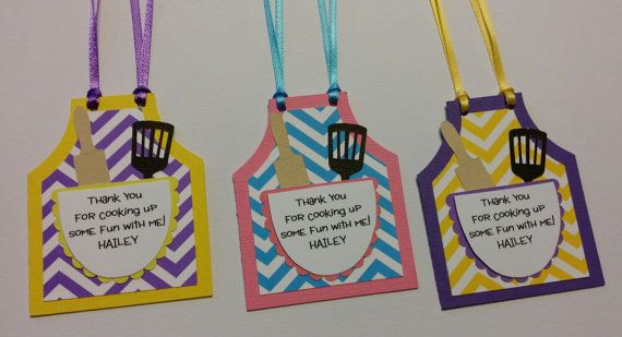 Cooking Party Favor Tags Baking Party Favor by CreationsbyColett