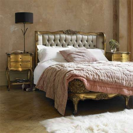 Parisan style bedroom - bit of glam, bit of mellow, but great deal of warmth.