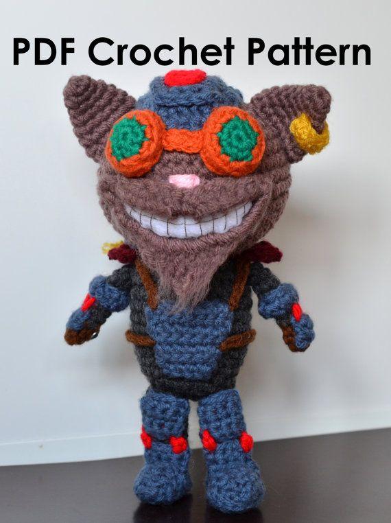 Amigurumi Supplies : Crochet pdf pattern league of legends ziggs the by