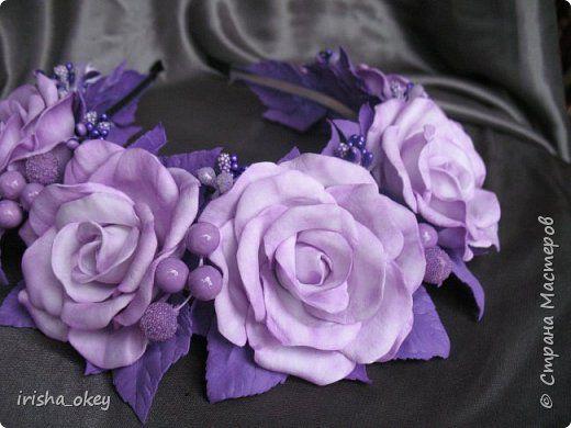 Для дочери создала вот такой ободок, в сиреневом цвете... фото 1
