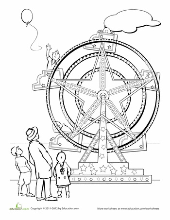 Ferris wheel coloring pages ~ 113 best COUNTRY FAIR images on Pinterest | Country fair ...