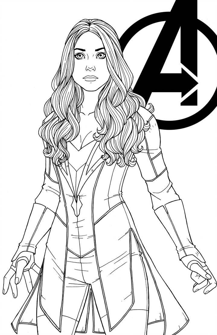 Wanda Maximoff By Jamiefayx Avengers Coloring Avengers Coloring Pages Superhero Coloring Pages