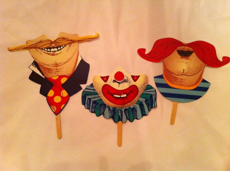 Printable circus masks