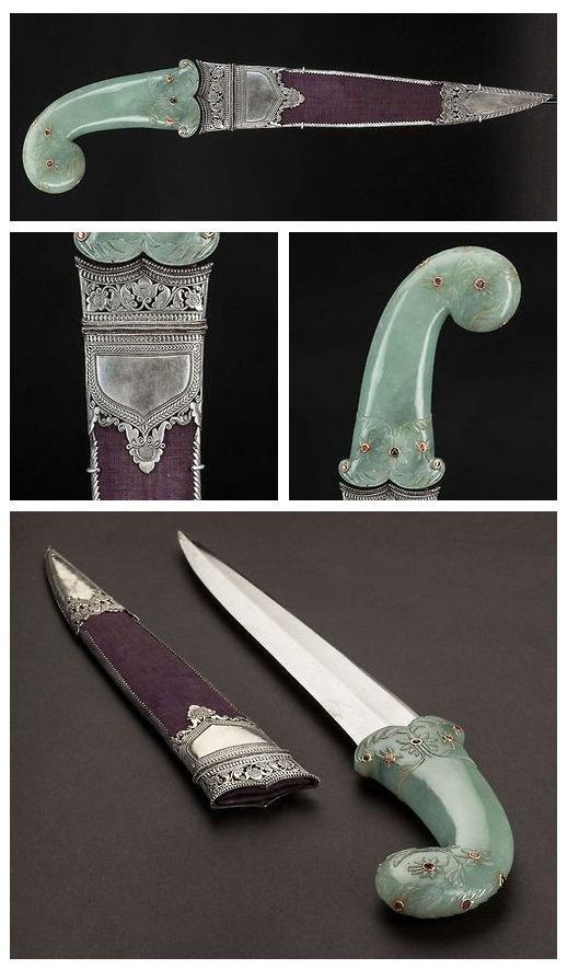 Khanjar Dagger.      Dated: late 18th / early 19th century.     Culture: Indian, Mughal.