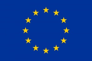 he Flag of Europe consists of a circle of 12 golden (yellow) stars on an azure background. It is the flag and emblem of the Council of Europe (CoE) and the European Union (EU).[3] It is also often used to indicate eurozone countries, and, more loosely, to represent the continent of Europe or the countries of Europe independent of any of these institutions.