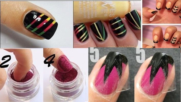How To Do Simple Nail Art Designs For Beginners Step By Step Crazy Nails Pinterest Nail