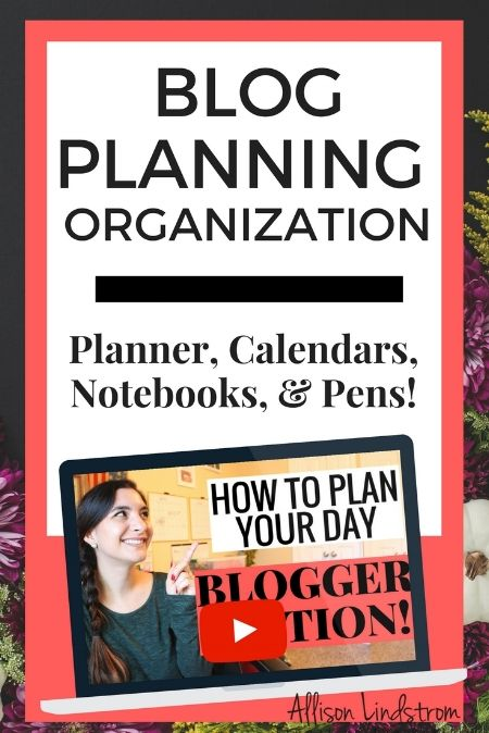 I get so many questions about what I use to plan and organize my blog content so I'm excited to share a sneak peak into everything today! I've got a favorite planner, calendar, notebook, and even pens so let's get started. | Blog Planning Organization: Planner, Calendars, Notebooks, & Pens