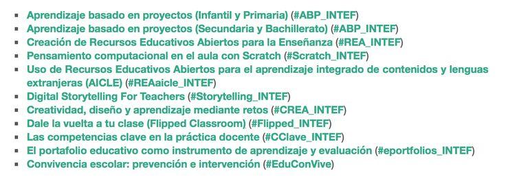 """Se amplia el catálogo de cursos """"En Abierto"""" con los 11 cursos tutorizados de la 2ª convocatoria de 2016. #AprendeINTEF"""