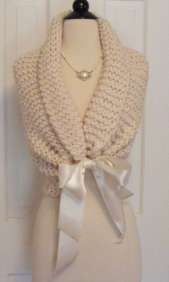 Wedding Shawl/ Hand Knit / Bridal Shawl / by ElegantKnitting, $54.00