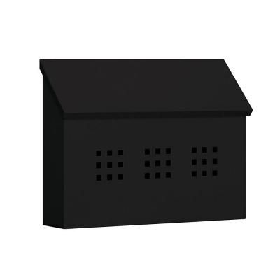 Salsbury Industries 4600 Series Black Decorative Horizontal Traditional Mailbox-4615BLK - The Home Depot