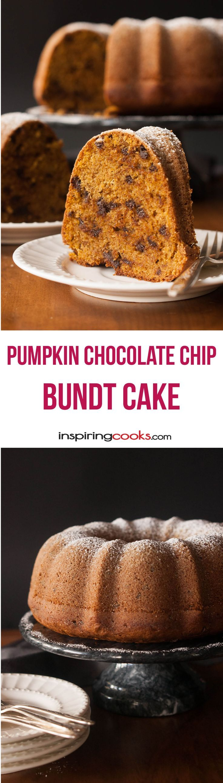 This is an often requested birthday cake in my family. We all love it year-round. The combination of the moist pumpkin cake and the chocolate chips is the best!