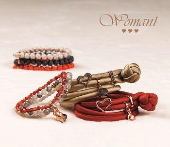 Womani zijden armbanden rood