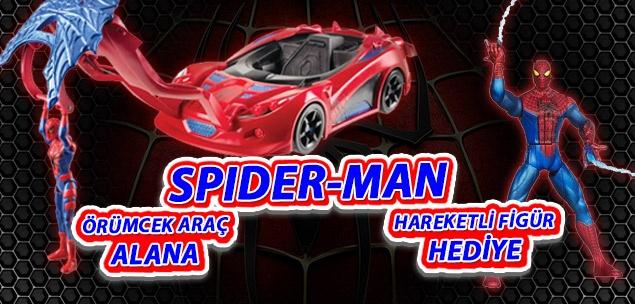 En sevilen kahramanlardan Spider-Man hayranlarına müjde! Toyzz Shop larda kaçırılmayacak fırsat. Tüm Toyzz Shop mağazalarında Spider-Man Örümcek araç alana Spider-Man hareketli figür hediye.