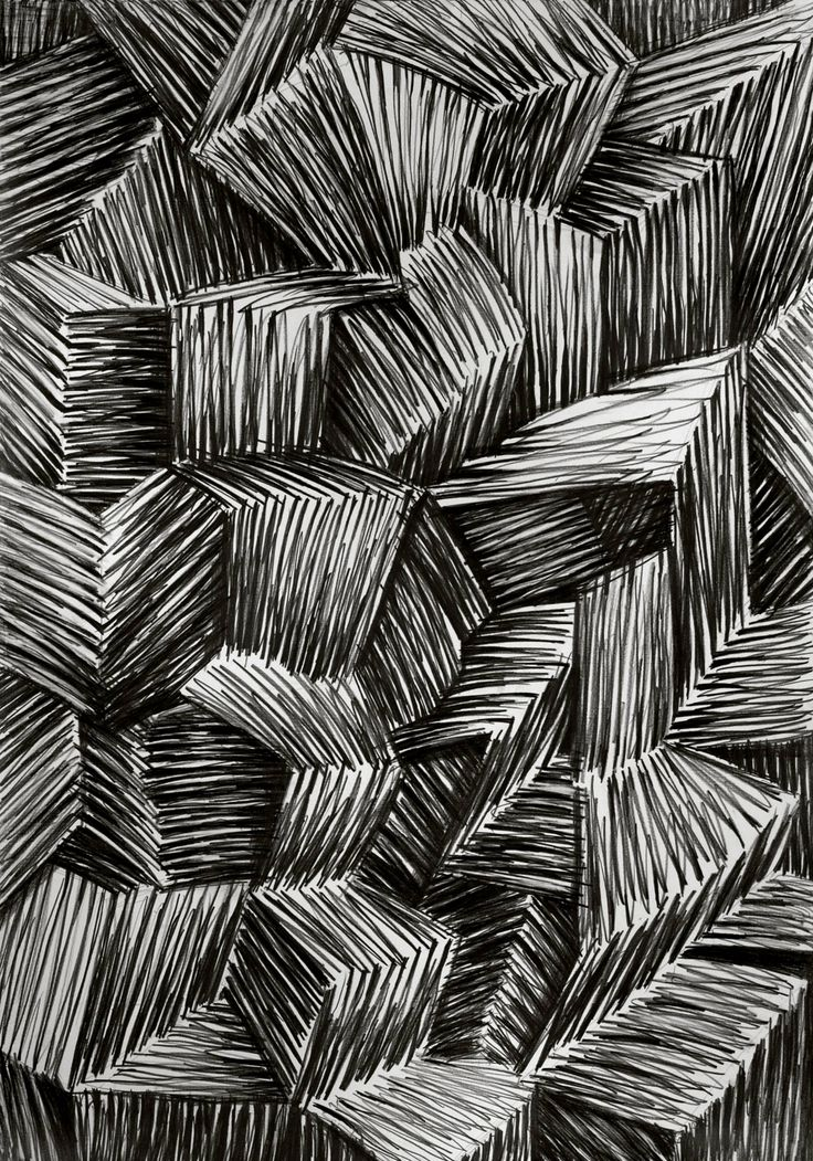 Janina Wierusz-Kowalska, Furry Boxes, pencil on paper, 100 x 70 cm, 2011