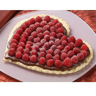 Raspberry Chocolate Heart Tart