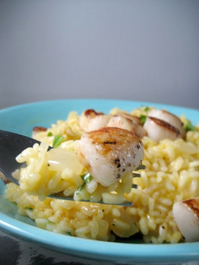 lemon parmesean risotto with pan seared sea scallops keys to the cucina 2
