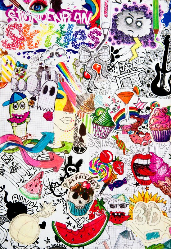 Doodle Collage By Rainbow Art D6efvpt Jpg 551 215 800 Pixels