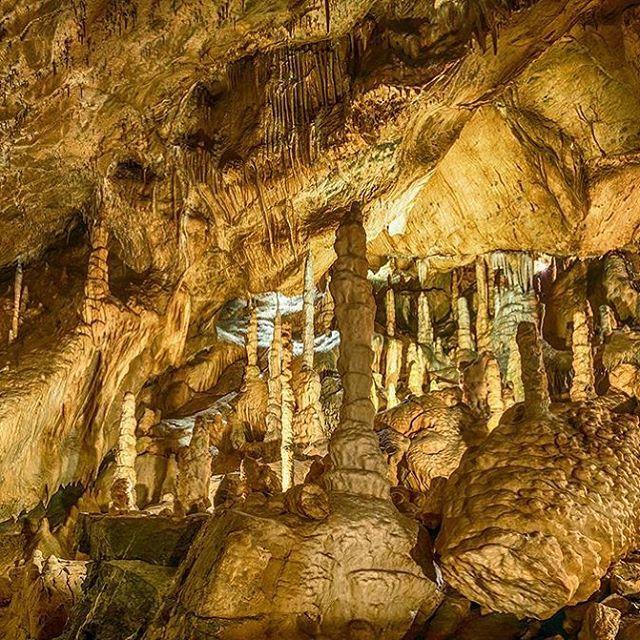 """Solche tollen Tropfsteinhöhlen gibt es im Harz! Jan Reichel hat die Baumannshöhle in Rübeland für uns fotografiert und gleich noch verraten: """"Die Rübeländer Tropfsteinhöhlen sind auch über die Osterfeiertage geöffnet."""" Danke für den Tipp und das Bild, @jan_reichel_fotografie! #tropfsteinhöhle #mystic #magical #cave #stalactites #stalagmites #limestone #dripstonecave #hiking #modernoutdoorsman #weroamgermany #harz #rübenland #sachsenanhalt #ig_sachsenanhalt #deutschland #germany…"""
